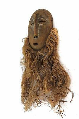 Lega Mask Bearded White Face Congo African Art SALE WAS $210.00