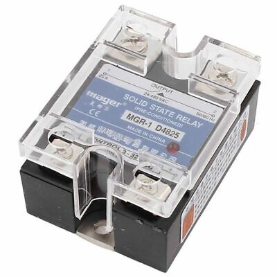 1X(SSR 25A 3-32V DC To 24-480V AC Single Phase Solid State Relay DC ControlO3Q2)