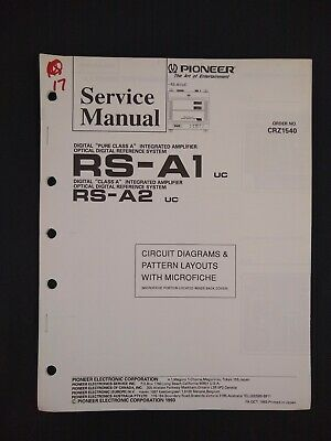 Pioneer Service Manual Circuit Diagrams Microfiche Order No CRZ1540 RS-A1 RS-A2