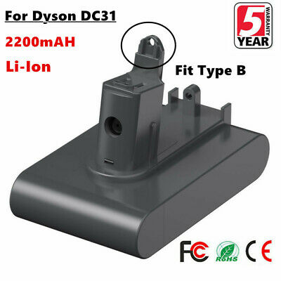 Replace For Dyson DC31 2.2Ah Li-Ion Battery DC34 DC35 DC44 Type B Vacuum Cleaner