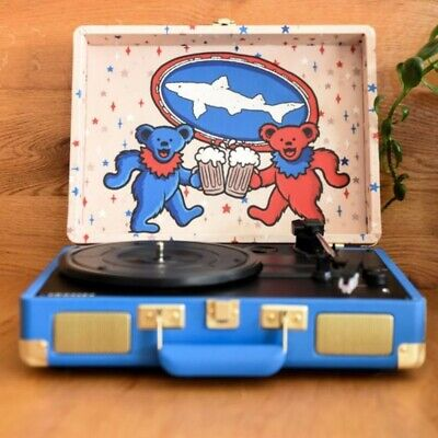 NEW Crosley Cruiser Deluxe Record Player Grateful Dead Dogfish Head Tuntable NEW