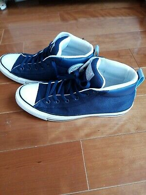 CONVERSE UNISEX ALL Star Street Mid Blue Suede Sneakers