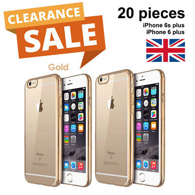 25x Crystal Gold iPhone 6 6s Plus Case Cover (up to £0.40/piece) BULK SALES UK