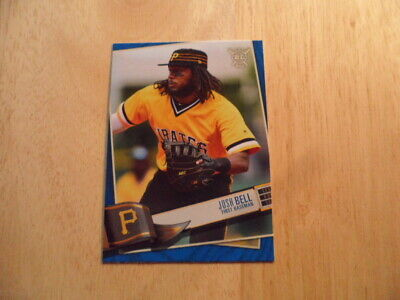 Josh Bell 2019 Topps Big League Blue Parallel Card #5 Pittsburgh Pirates