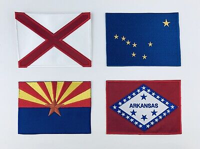 "State Flag Embroidered Patches 3"" x 5"" Great Detail High Quality"