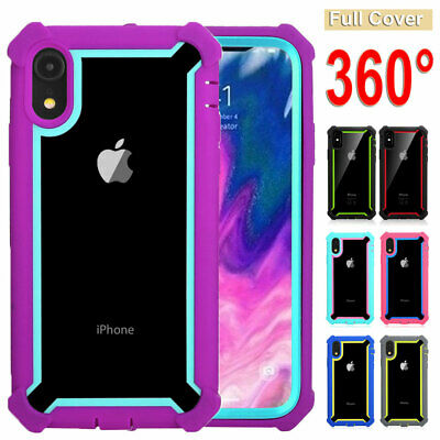 Heavy Duty Armor Rugged Rubber Hybrid Case Cover for iPhone XS Max XR X 7 8 Plus