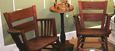 2 Old Mahogany Heywood Bros. & Wakefield Rockers Rocking Chairs