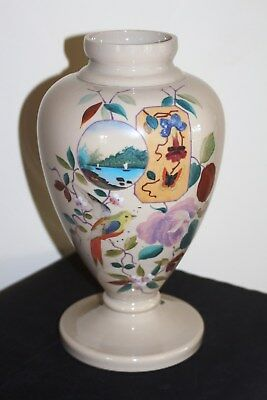 Victorian Opaque Glass Vase with Excellent Hand Decoration