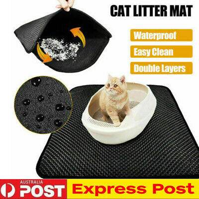 AU Cat Litter Trapping Mat Double Layer Honeycomb Design Foldable Tray Trap Pad