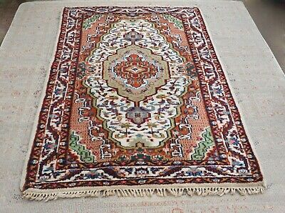 Vintage Carpet Rug Wool Hand Knotted -  6ft Wide