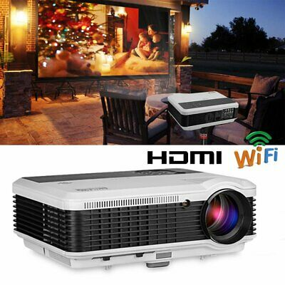 6000lm HD LED Smart Projector Android Wifi Online Home Theater Kodi Netflix HDMI