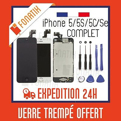 IPHONE LCD Screen 5S 5C 5 Se Complete+Touch Screen Monte on base Frame+Tools