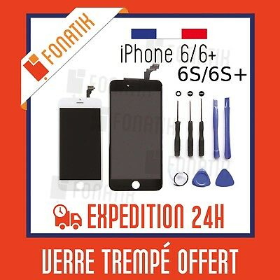 LCD Screen Touch Retina Window IPHONE 6/6 plus/6S/6S plus/ Black/White on base