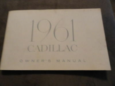 1961 Cadillac Owner's manual for All Models, original and used condition