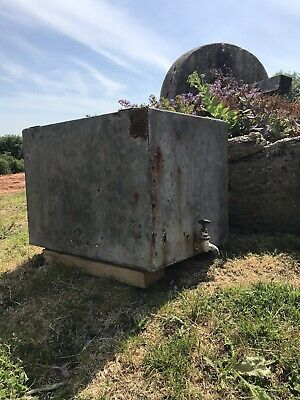 Small galvanised water tank. Great planter tap feature garden decoration, Rustic