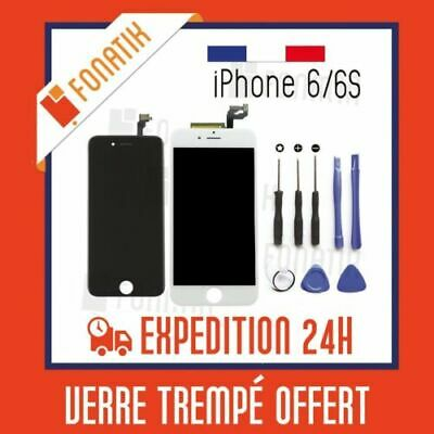 LCD Screen Touch Retina Window IPHONE 6/6S Black White on base Frame+Toolkit
