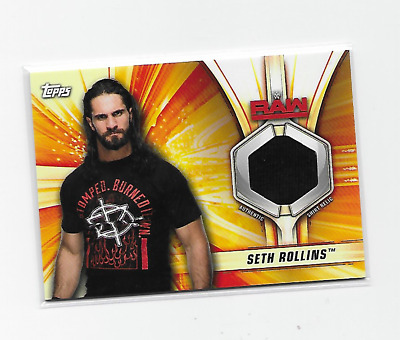 Seth Rollins 2019 Topps Wwe Summerslam Authentic Superstars Shirt Relic /199