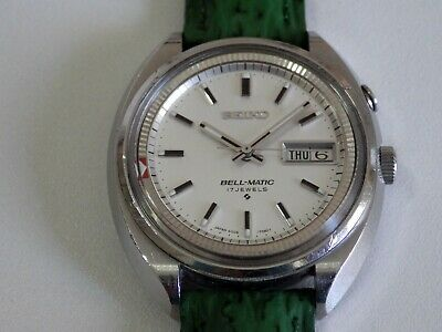 Seiko Bell-Matic Automatic 17 Jewels Vintage 39Mm, Dial White, 4006-7002