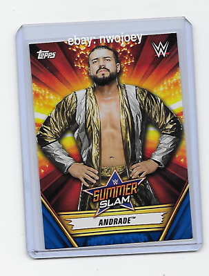 Andrade 2019 Topps Wwe Summerslam Superstar #30 Blue Parallel 77/99 Rare