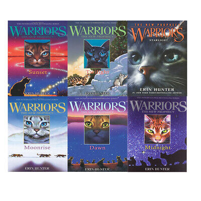 Erin Hunter Warrior Cats Series 2 Collection 5 Books Set Prophecy NEW Paperback