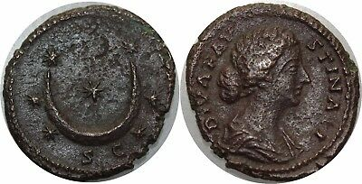L7821 RARE Diva Faustina Senior (wife of Antoninus Pius), As 7 Stars HQ !! ->MO