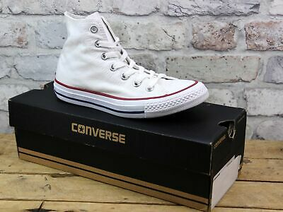 Unisex Converse All Star Chuck Taylor Hi White Canvas Pumps Trainers Uk Size 4