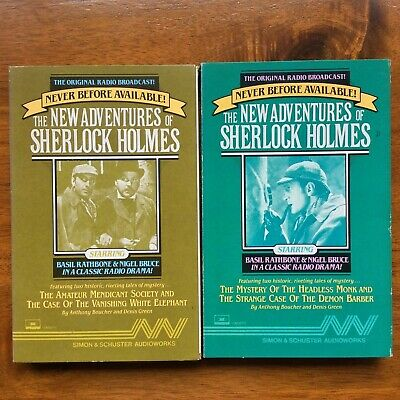 The New Adventures of Sherlock Holmes Audio Book NEW Cassettes.