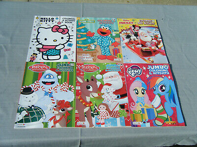 Lot of 108 Coloring Activity Books Christmas 6 Titles Pony Sesame Street Peanuts