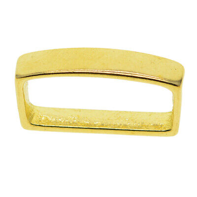 Brass D Shaped Buckle Metal Loop Keeper for Leather Belt Strap Replacement