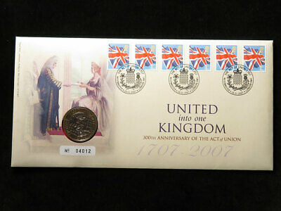 Royal Mint Coin Cover : 300th Anniversary of the Act of Union £2 Coin 2007