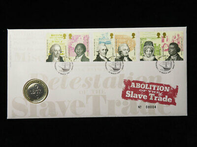 Royal Mint Coin Cover : Abolition of the Slave Trade £2 Coin 2007