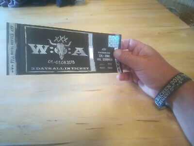 W:O:A Wacken open air 2019, 30 years,  1 all in ticket, sold out, 3 days