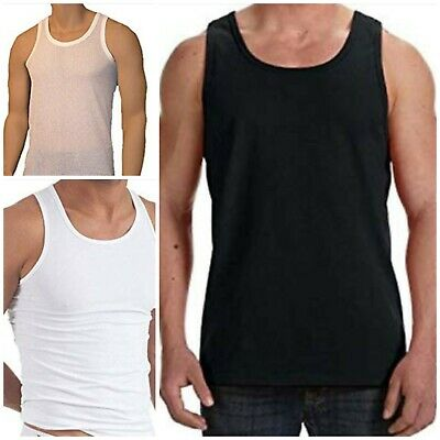6 Pack Mens Vest Sleeveless Tank Top Gym Workout Lounge S M L XL XXL