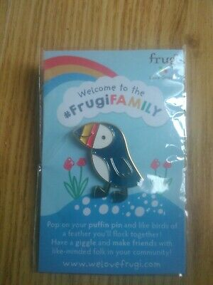 FRUGI (Organic Cotton Company)PUFFIN BROOCH pin Badge