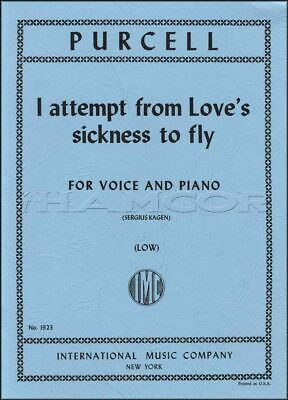 Purcell I Attempt From Love's Sickness to Fly Low Voice Vocal SAME DAY DISPATCH