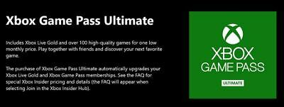 12 Months Xbox Game Pass Ultimate