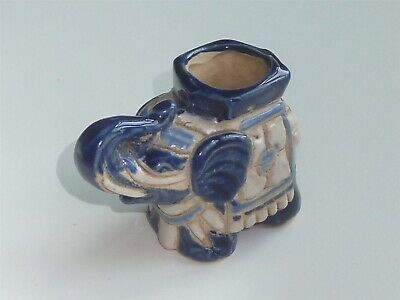 Antique Blue & White Elephant Incence Burner