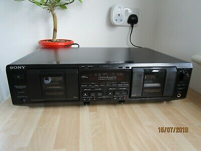 Sony TC-WE 835 S  Dual well Stereo Cassette Recorder with New Belts