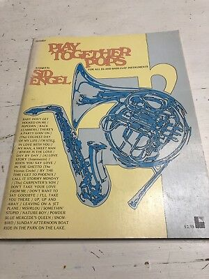 Vintage Play Together Pops Music For All Eb And Bass Clef Instruments