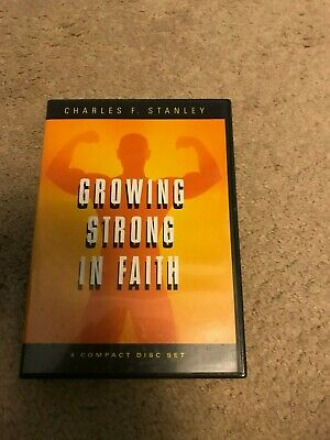 Charles Stanley Growing Strong In Faith 4 CD Sermons set