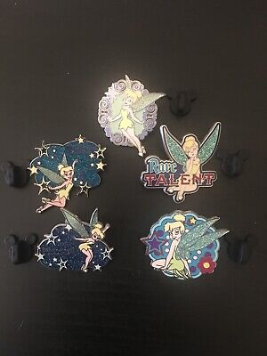 Tinkerbell Disney Trading Pins 5 Pin Set Sparkly