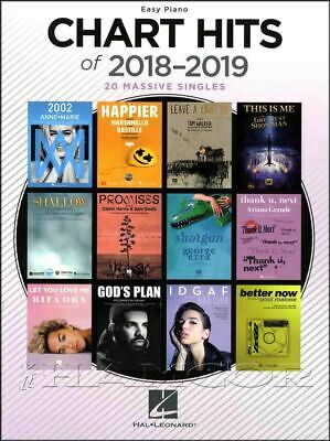Chart Hits of 2018-2019 Easy Piano Sheet Music Book Pop  SAME DAY DISPATCH