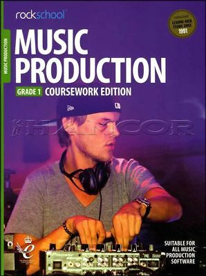 Rockschool Music Production Coursework Edition Grade 1 Book/Audio Exams Tests