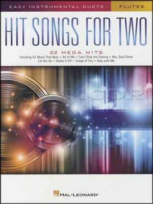 Hit Songs for Two Flutes Easy Instrumental Duets Flute Sheet Music Book