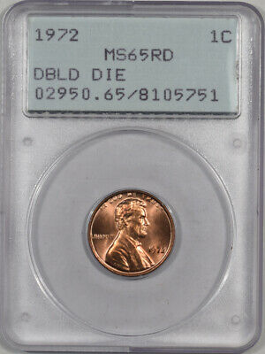 1972 Lincoln Cent - Doubled Die Pcgs Ms-65 Rd Premium Quality! Rattler