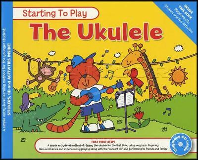 Starting To Play The Ukulele Sheet Music Book with CD Method Learn How