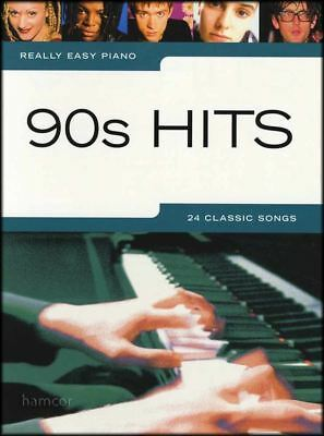 Really Easy Piano 90s Hits Sheet Music Book Songbook 24 Classic Pop Songs