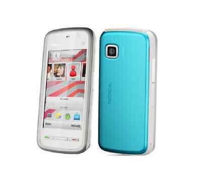 Nokia 5230 White/Blue Handy Dummy Attrappe - Requisit, Deko, Ausstellung, Modell