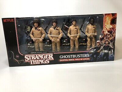 Stranger Things Ghostbusters Action Figures 4-Pack Dustin Mike Will Lucas NEW