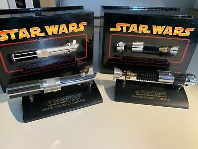 Star Wars Obi-Wan and Anakin Lightsabers, master replicas 0.45 Scale ROTS
